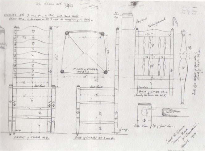Plans For The Ladderback Chairs Made Library