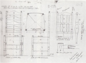 Plans for the ladderback chairs made for the Library